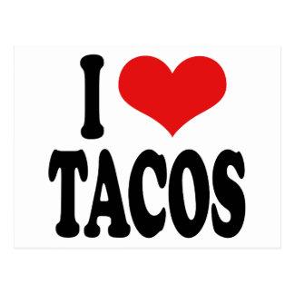 Amo el Tacos Tarjeta Postal
