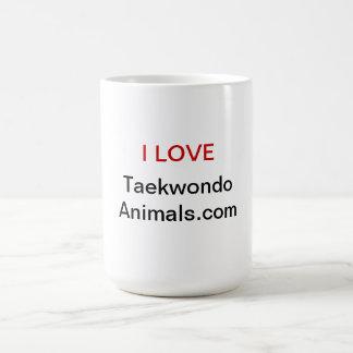 Amo el Taekwondo Animals.com Taza