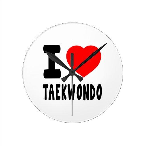 Amo el Taekwondo Relojes De Pared