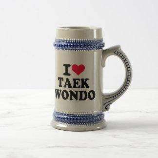 Amo el Taekwondo Taza De Café