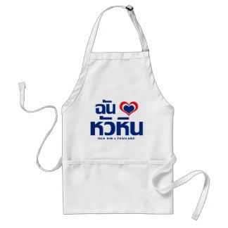 Amo el ❤ Tailandia de Hua Hin Delantal