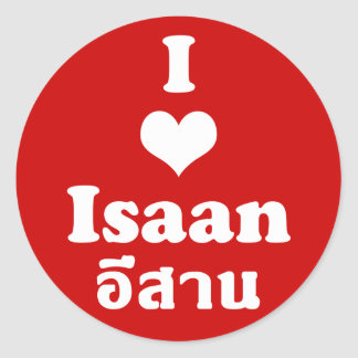 Amo el ❤ Tailandia de Isaan Pegatina Redonda