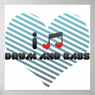 Amo el tambor y el bajo póster