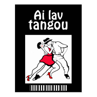 Amo el tango Spanenglish divertido Postales
