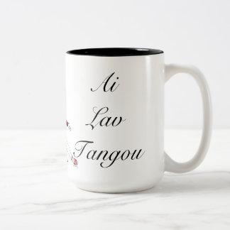 Amo el tango Spanglish Taza De Dos Tonos