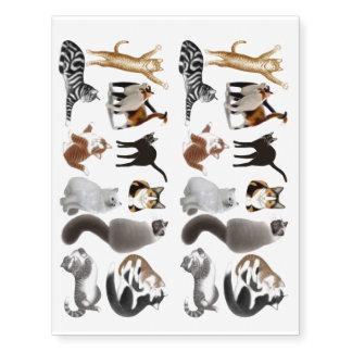 Amo el tatuaje temporal de los gatos del gatito tatuajes temporales