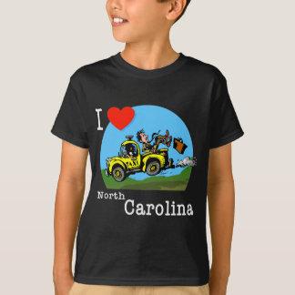 Amo el taxi del país de Carolina del Norte Poleras