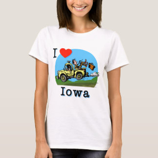Amo el taxi del país de Iowa Playera