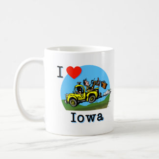 Amo el taxi del país de Iowa Taza Clásica