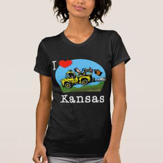 Amo el taxi del país de Kansas Playera