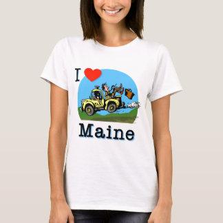 Amo el taxi del país de Maine Playera