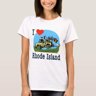 Amo el taxi del país de Rhode Island Playera