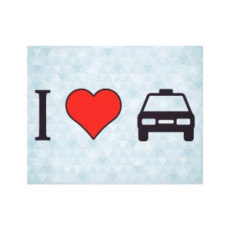 Amo el taxi lienzo envuelto para galerías