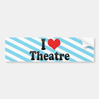 Amo el teatro etiqueta de parachoque
