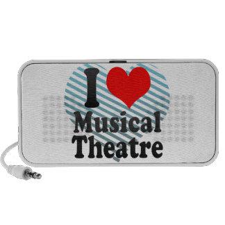 Amo el teatro musical laptop altavoz