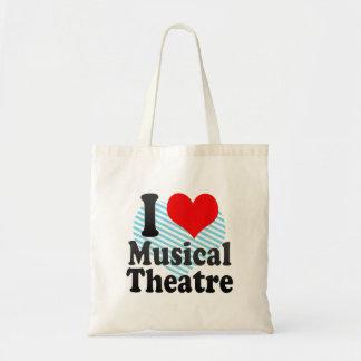 Amo el teatro musical bolsa tela barata
