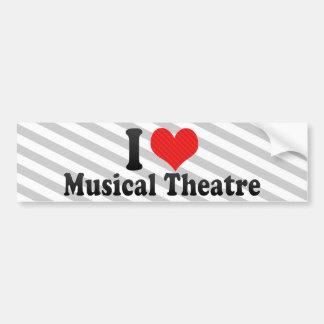Amo el teatro musical pegatina de parachoque