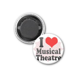 Amo el teatro musical imán redondo 3 cm