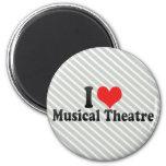 Amo el teatro musical iman de nevera