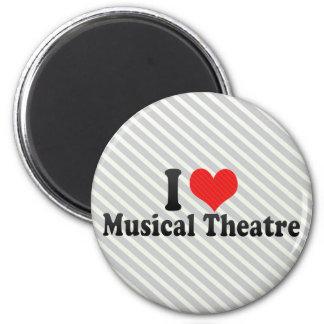 Amo el teatro musical imán redondo 5 cm