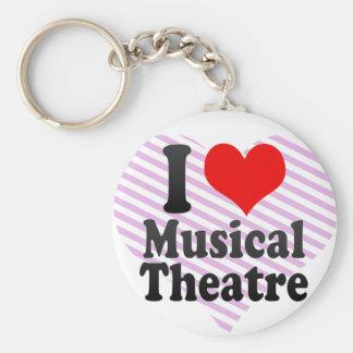 Amo el teatro musical llavero redondo tipo pin