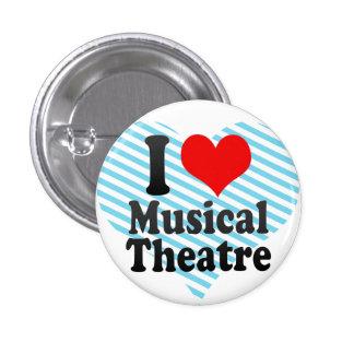 Amo el teatro musical pin redondo 2,5 cm