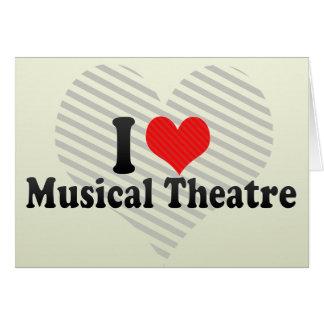 Amo el teatro musical tarjeta
