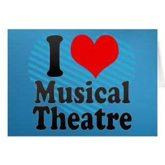 Amo el teatro musical tarjeta de felicitación