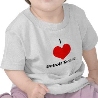 Amo el techno de Detroit Camisetas