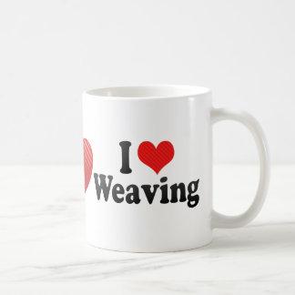Amo el tejer taza