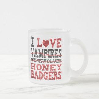 Amo el tejón de miel de los hombres lobos de los taza de cristal