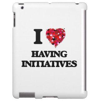 Amo el tener de iniciativas funda para iPad