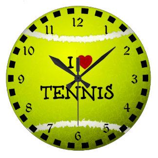 Amo el tenis - pelota de tenis relojes
