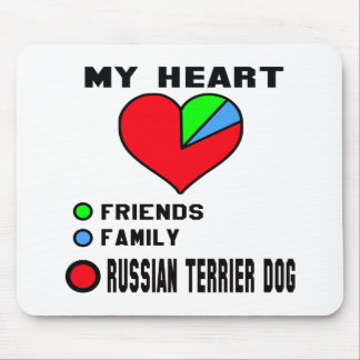 Amo el terrier ruso tapetes de raton