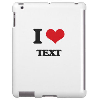 Amo el texto funda para iPad