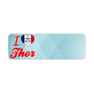 Amo el Thor, Iowa Etiqueta De Remitente