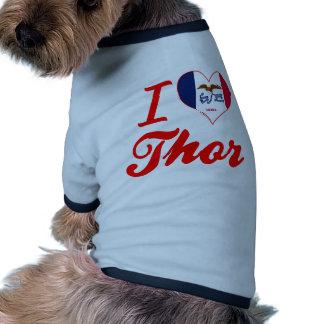 Amo el Thor, Iowa Camiseta Con Mangas Para Perro