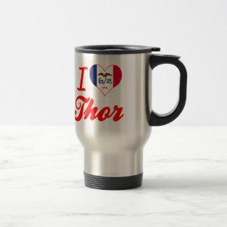 Amo el Thor, Iowa Taza De Viaje De Acero Inoxidable