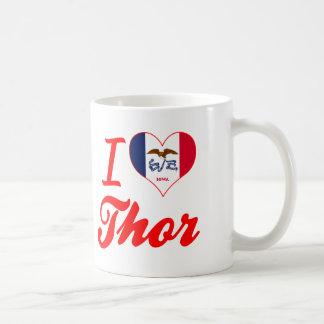 Amo el Thor, Iowa Taza Básica Blanca