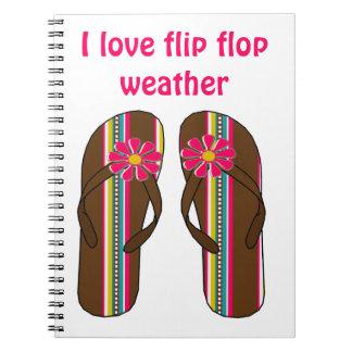 Amo el tiempo del flip-flop libro de apuntes con espiral