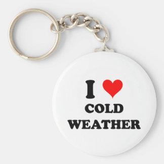 Amo el tiempo frío llavero