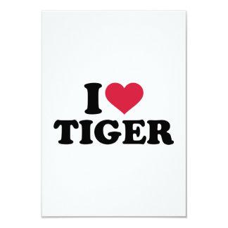 """Amo el tigre invitación 3.5"""" x 5"""""""