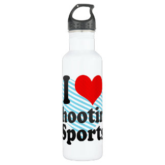 Amo el tirar de deportes botella de agua