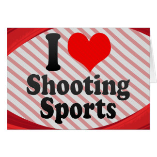 Amo el tirar de deportes tarjeta pequeña