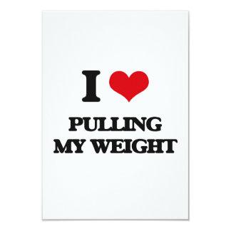 """Amo el tirar de mi peso invitación 3.5"""" x 5"""""""