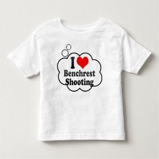 Amo el tiroteo de Benchrest Playera De Bebé