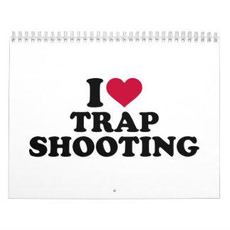 Amo el tiroteo de trampa calendarios