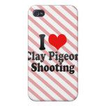 Amo el tiroteo del tiro de pichón iPhone 4 cobertura