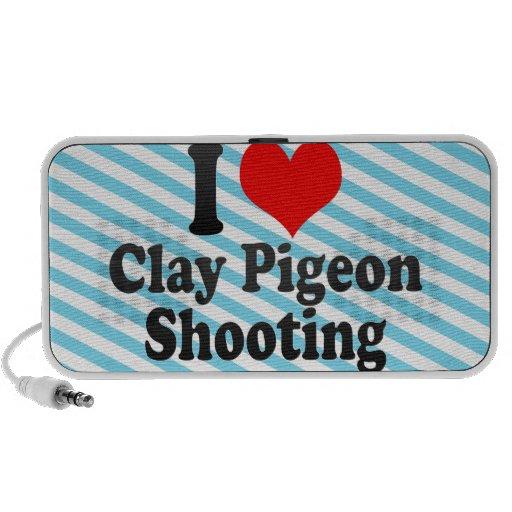 Amo el tiroteo del tiro de pichón notebook altavoz