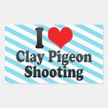 Amo el tiroteo del tiro de pichón rectangular altavoz